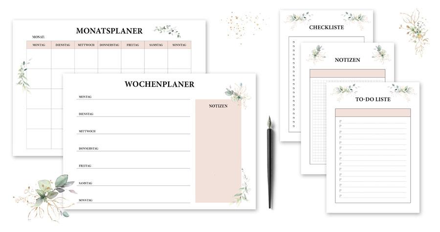 Zusätzlich gibt es für den Hochzeitsordner auch noch ein Bonusmaterial zum Downloaden